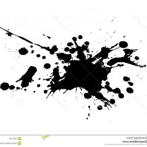 Vector Paint Splash Black White: Stock Photos Black White Splash Vector Image