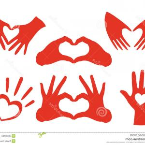 Vector Vector Heart Shaped Hands: Hand Giving Love Symbol Draw Vector Icon Heart Holding Shape Image