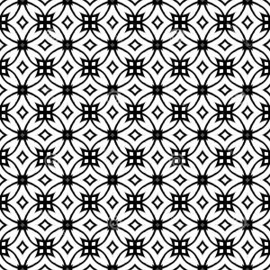 Vector Art Geometric Designs: Stock Photos Vector Geometric Art Deco Pattern Lacing Shapes Black White Image