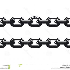 Tow Chain Vector: Heart Shaped Silver Chain Frame Vector Clipart