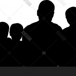 Family Silhouette Vector Art: Stock Vector A Family Portraitc Silhouette Vector Art Work