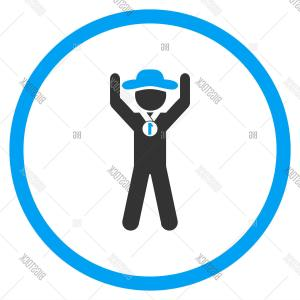 Chamion Vector: Stock Vector Agent Champion Circled Icon