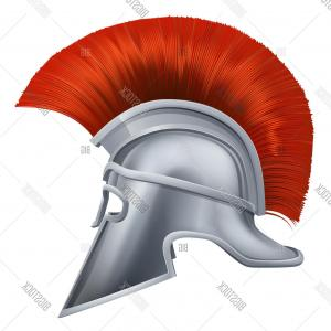 Greek Warrior Stock Vector: Stock Vector Ancient Greek Warrior Helmet