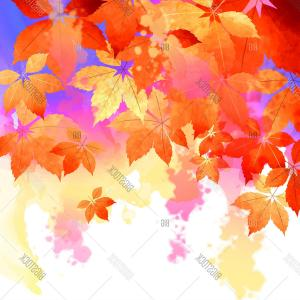 Leaf Fall Vector Backgrounds: Stock Vector Autumn Vector Watercolor Fall Leaves