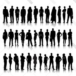 People Standing Vector: Stock Vector Collection Of Standing Business People Vector