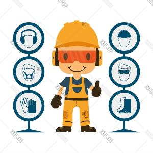 Worker Vector: Stock Vector Construction Worker Repairman Thumb Upc Safety Firstc Health And Safety Warning Signsc Vector Illustrator