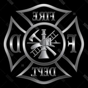 Fire Maltese Vector: Stock Illustration Black And White Monochrome Vector