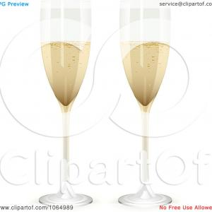 Champagne Flute Vector: Stock Vector Full And Empty Glass Of Champagne Isolated On A Transparent Background