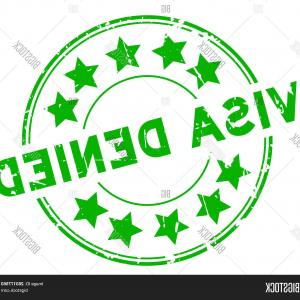 Visa Logo Vector Clip Art: Grunge Red Visa Approved Star Icon