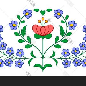 Vector Embroidery Hungarian: Stock Vector Hungarian Embroidery Floral Decoration