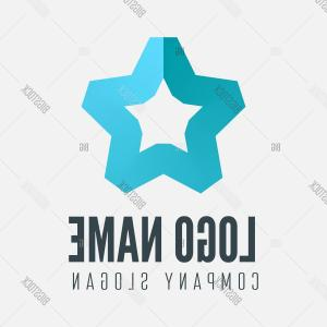 Star Name Tag Vector: Stock Vector Logoc Labelc Badgec Emblem Or Logotype Element With Gradient Star For Businessc Corporation Or Web