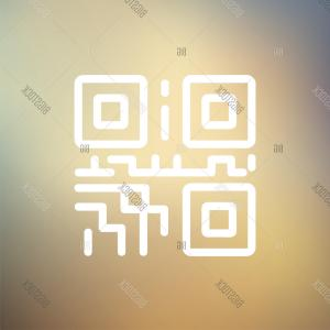 Vector Web Code: Stock Vector Qr Code Icon Thin Line For Web And Mobilec Modern Minimalistic Flat Design Vector White Icon On Gradient Mesh Background