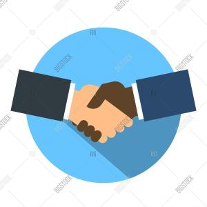 Shake Hand Icon Vector: Stock Vector Shake Hand Flat Icon