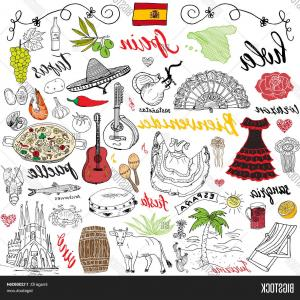 Spanish Vector Art: Abstract Spanish Flag Spain Colors Background