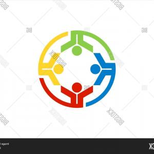 Club Shape Vector: Stock Vector Team Work Logoccircle Education Teamcpeople Club Symbol Health Nature Group Icon