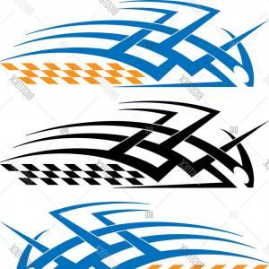 Tribal Vector Race Car: Car Motorcycle Racing Vehicle Graphics Tribal Vector