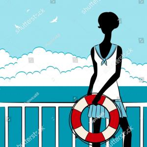 Buoy Silhouette Vector: Stock Vector Vector Sea Icons Seta Compassc Ring Buoyc Steering Wheelc Shipc Lighthousec Anchorc Spyglassc Binocu
