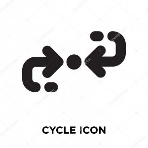 Cycle Icon Vector: Stock Vector Water Cycle Icon