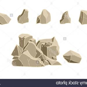 Rock Pile Vector: Stone Collection And Pile Vector Illustration D Realistic Rock Image