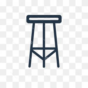 Stool Vector: Stool Vector Icon Isolated Transparent Background Tra Transparency Concept Can Be Used Web Mobile Image