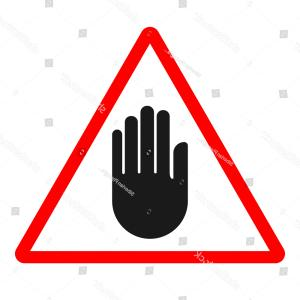 Vector Silhouette Black Hand: Stop Sign Black Hand Silhouette On