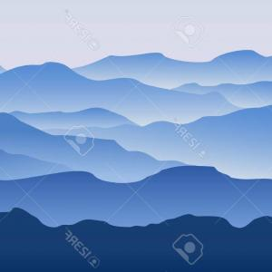 Mountain Range Silhouette Vector Free: Artistic Stock Illustration Mountains Landscape Silhouette Set