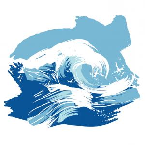 Ocean Wave Vector Illustration: Stock Illustration Hand Drawn Ocean Wave