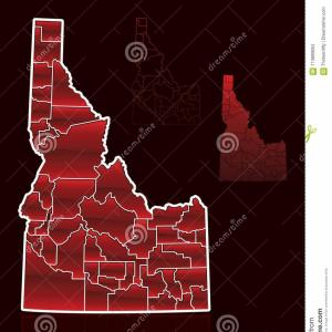 WI County Map Vector: Stylized Vector Graphic State Idaho Its Counties Idaho State County Map Vector Illustration Image