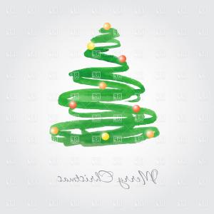 Christmas Tree Art Large Vector Format: Abstract Christmas Tree Made Of Scratches And Scribbles Vector Clipart