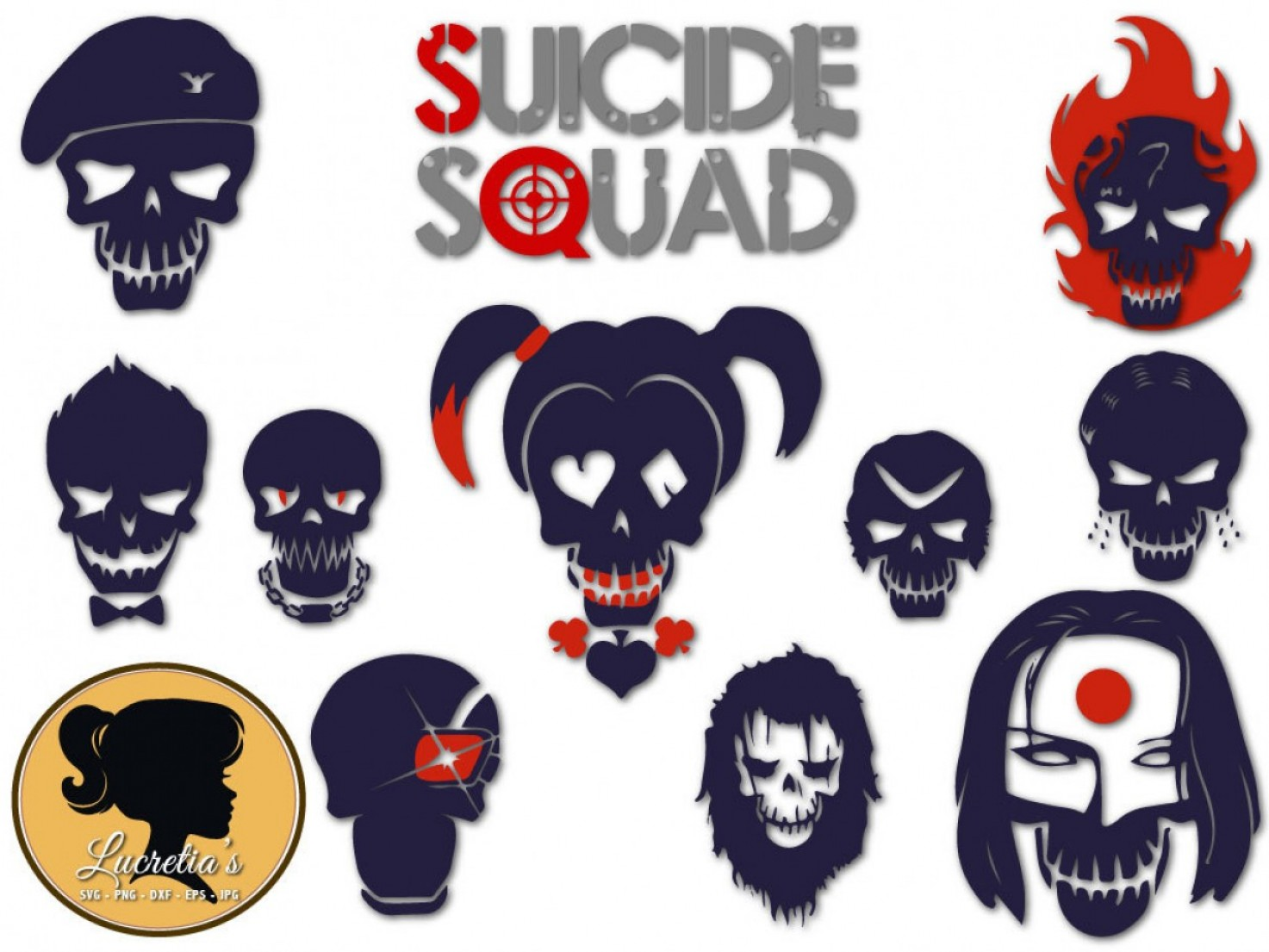 Harley-Davidson Flame Vector Silhouette: Suicide Squad Silhouette Svg Squad Svg
