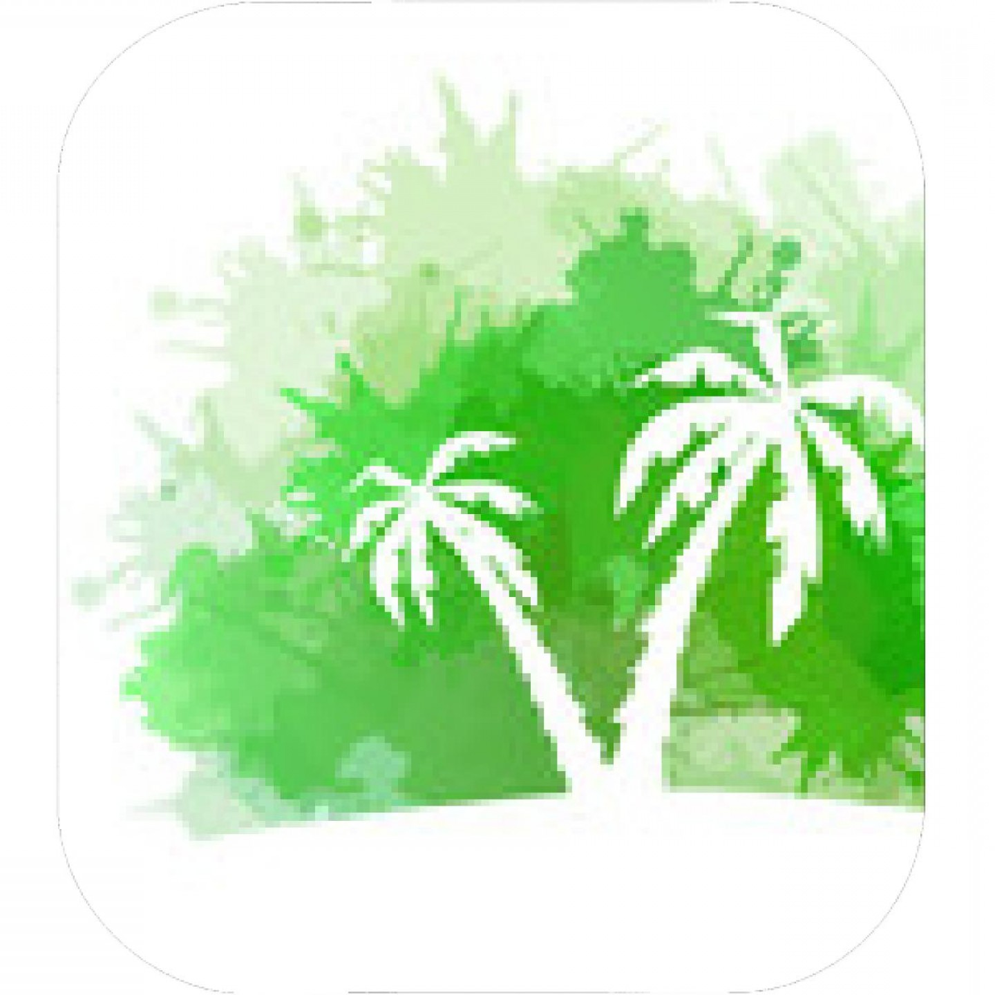 Watercolor Palm Tree Vector: Summer Banner With Watercolor Splashes And Palm Trees Vector Element For Your Design