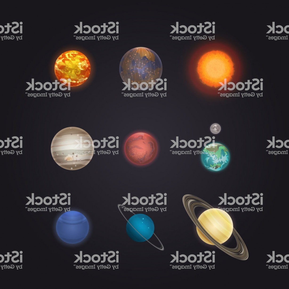 Vector System Infographic: Sun And Solar System Planets Infographic Gm