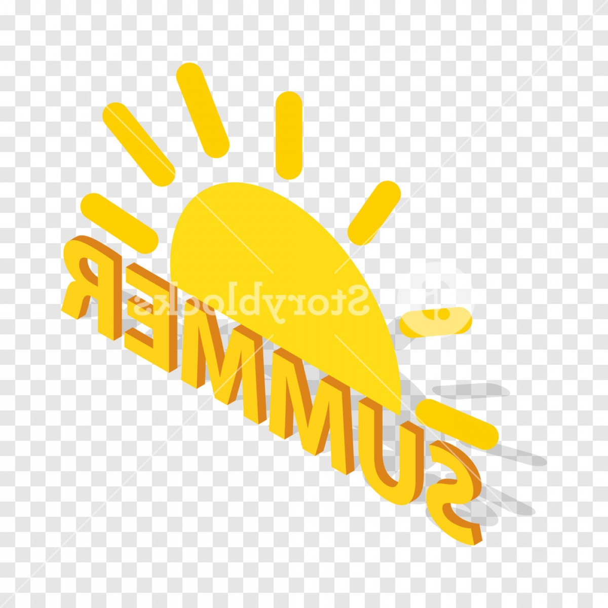 Summer Transparent Vector: Sun And Summer Isometric Icon D On A Transparent Background Vector Illustration Bugelmmxmjimycc