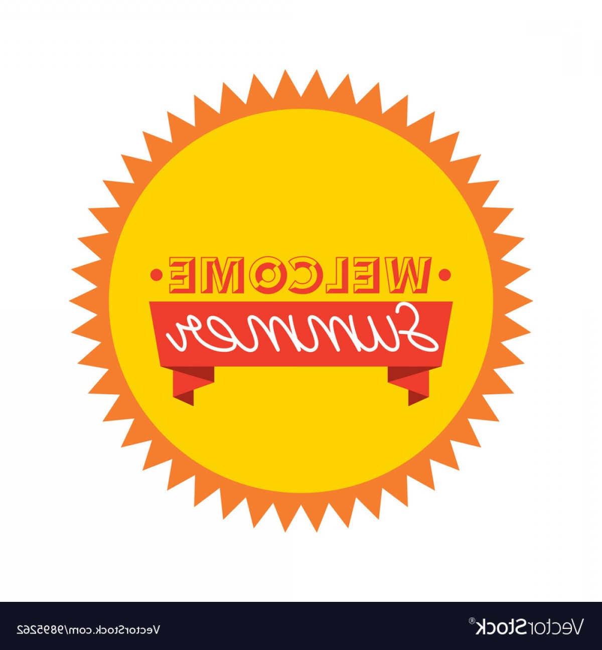 Vector Sun Vacation: Sun Seal Stamp Icon Summer And Vacation Design Vector