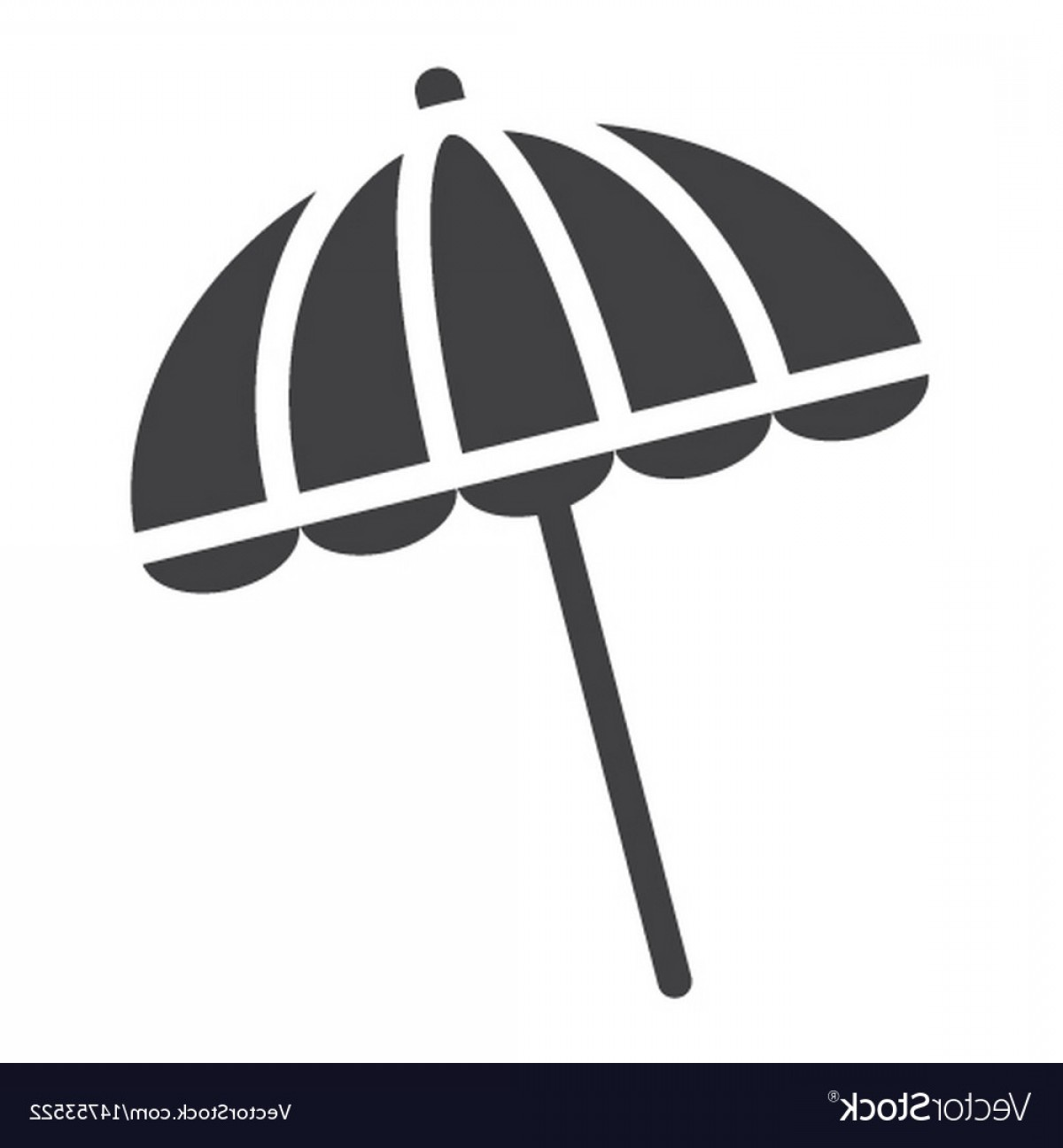 Umbrella Vector Black: Sun Umbrella Solid Icon Travel Tourism Parasol Vector