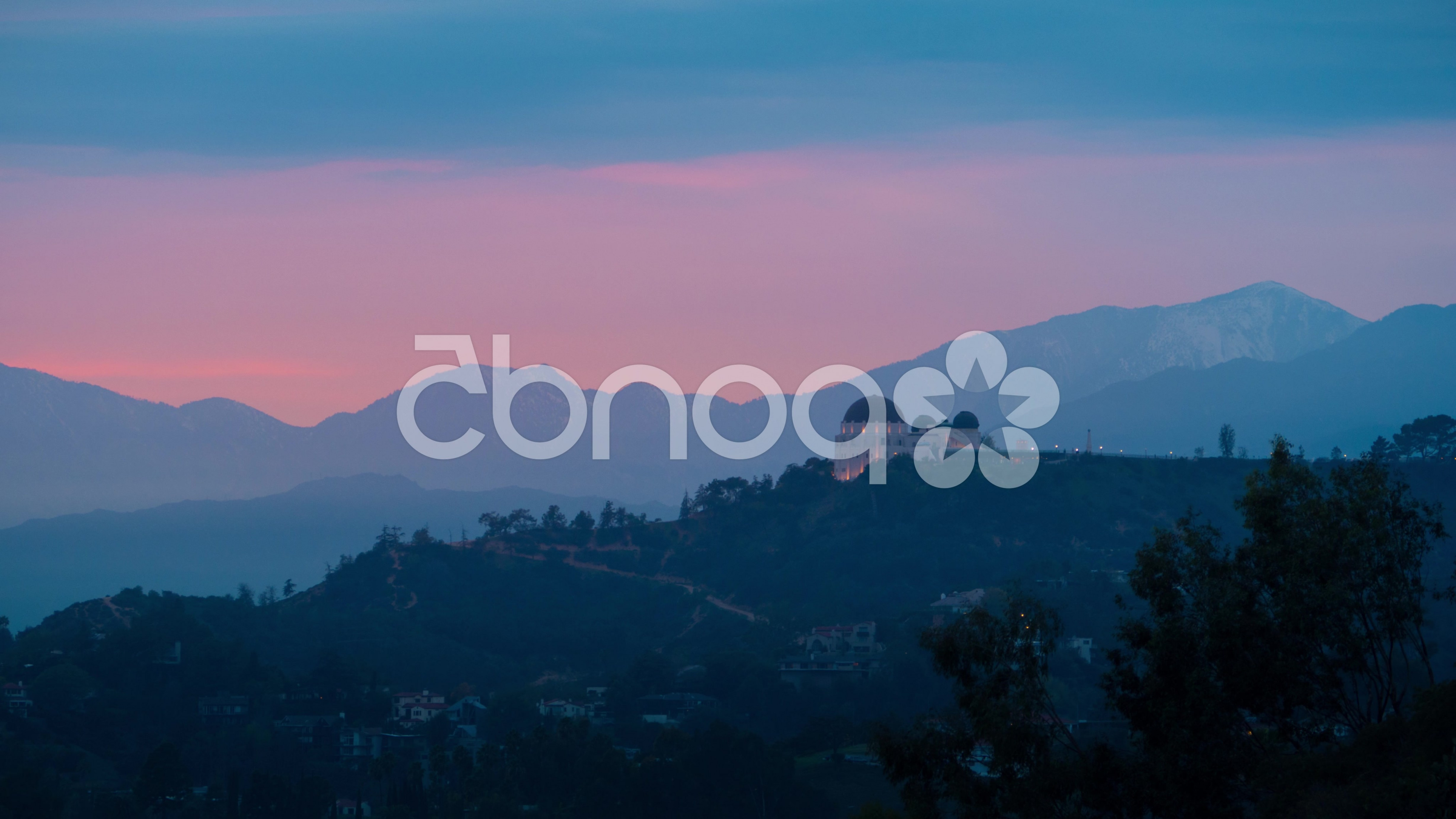 Hollywood Hills Vector: Sunrise Over Griffith Observatory Hollywood Hills Los Angeles California