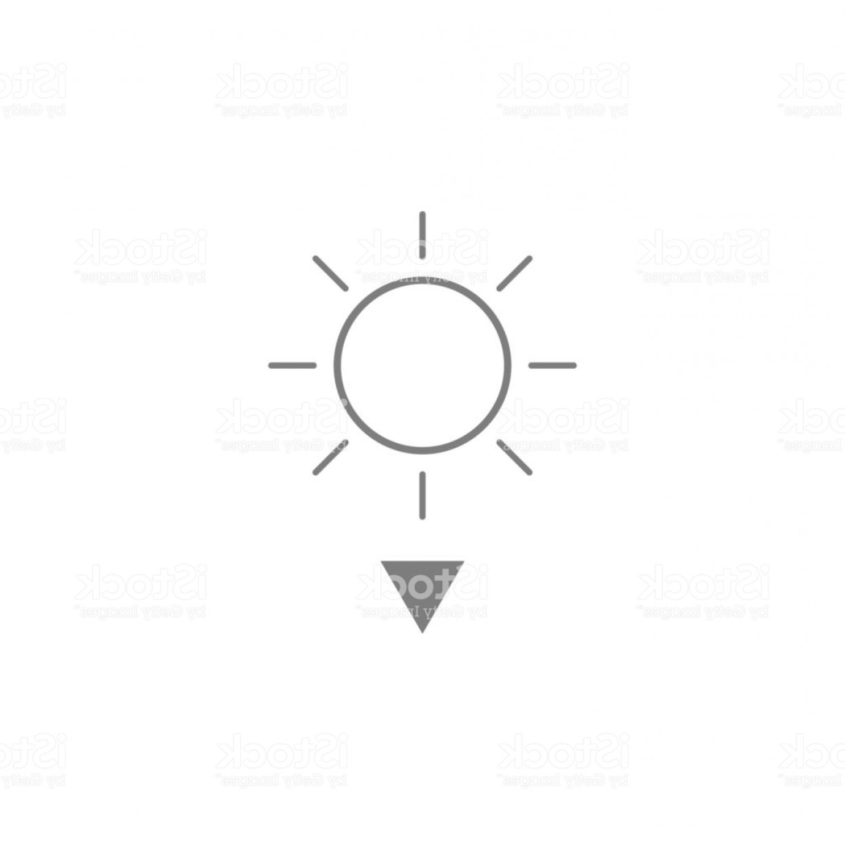Sunset Black And White Backgrounds Vector: Sunset Vector Icon Black And White Sunset Illustration Solid Linear Icon Gm