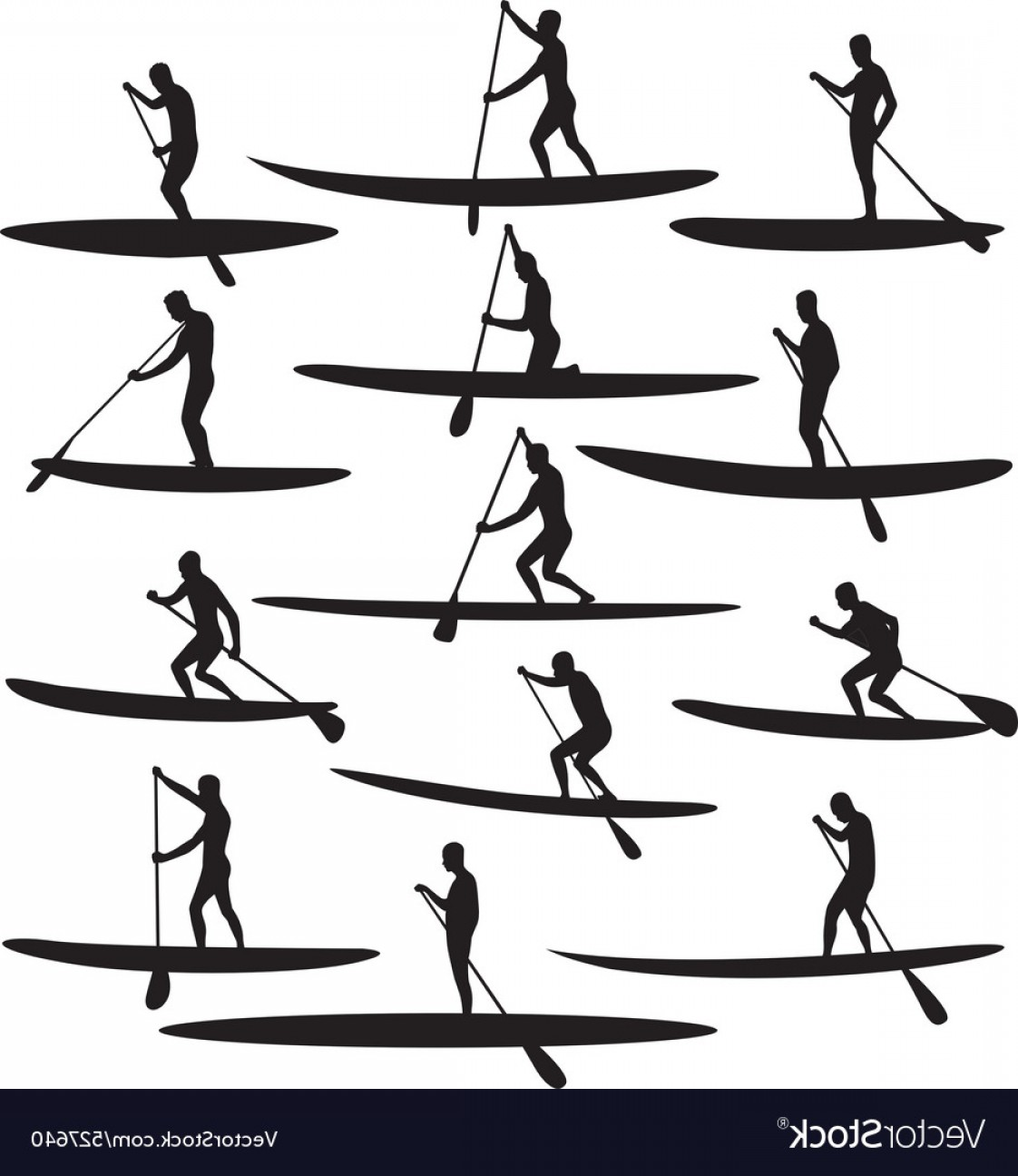 Stand Up Paddle Boarder Vector: Sup Stand Up Paddle Boarding Vector