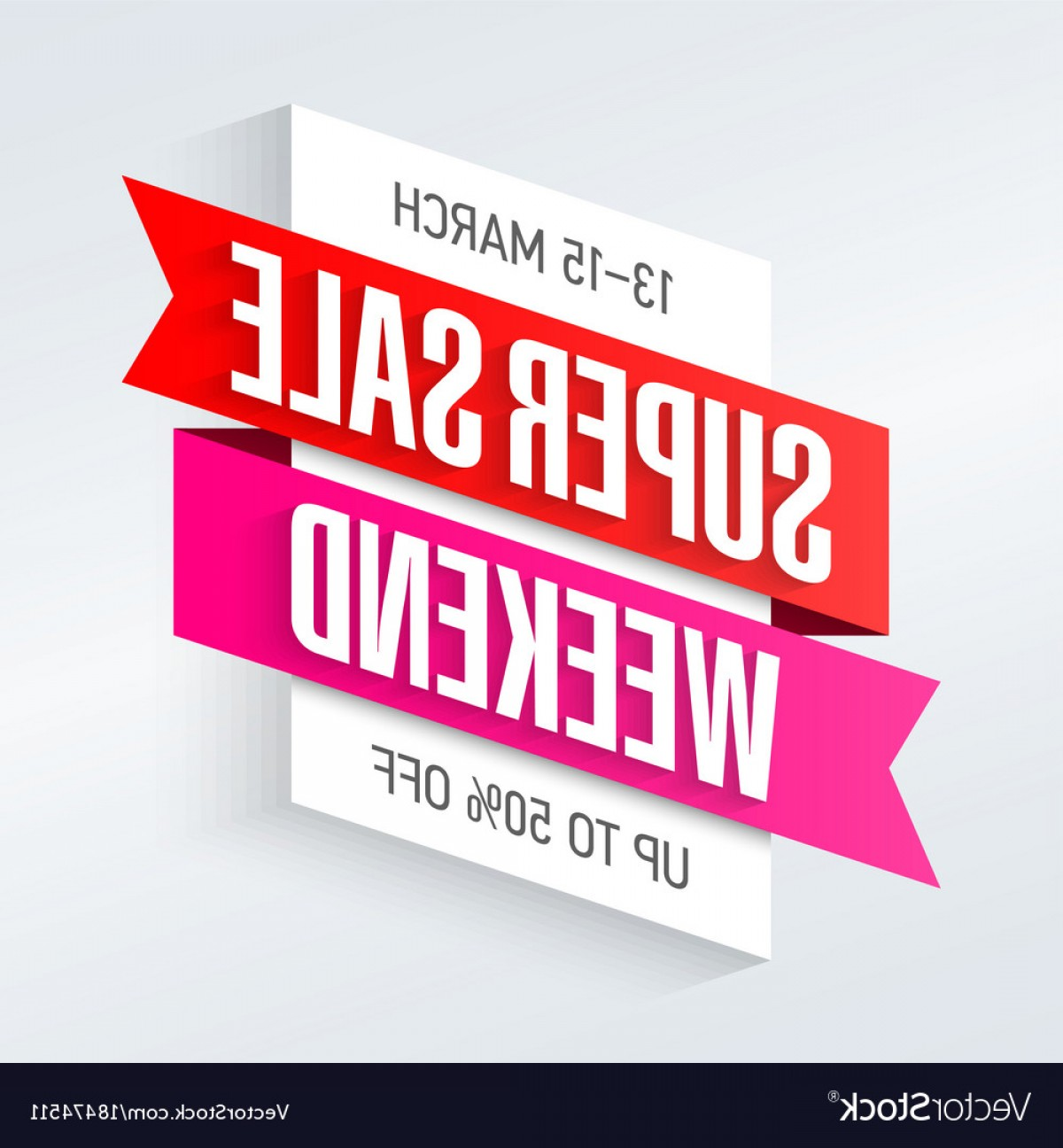 Vector Banner And Sell: Super Sale Weekend Special Offer Poster Banner Vector