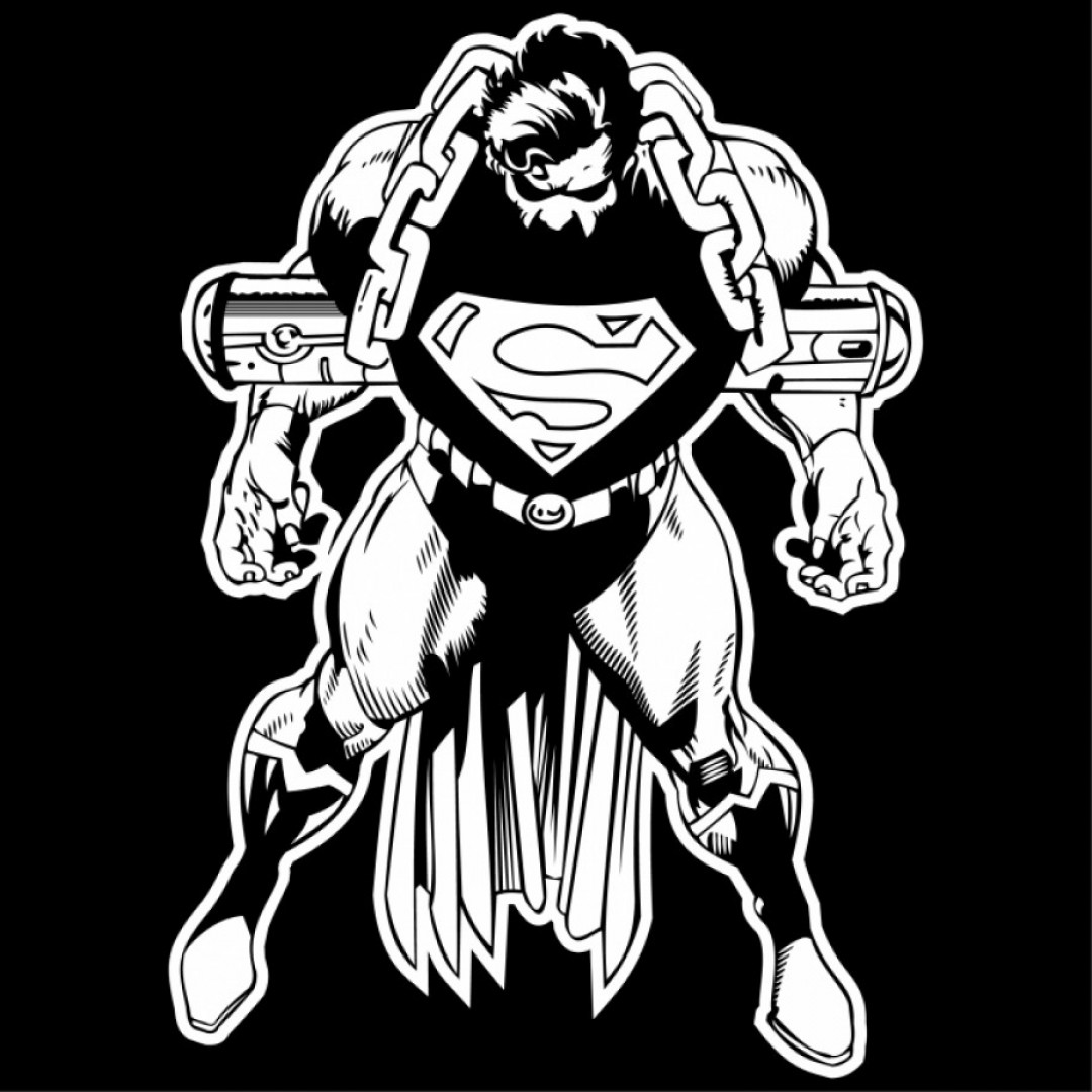 Superman Black And White Vector: Superman Silhouette Free Vector Silhouettes De