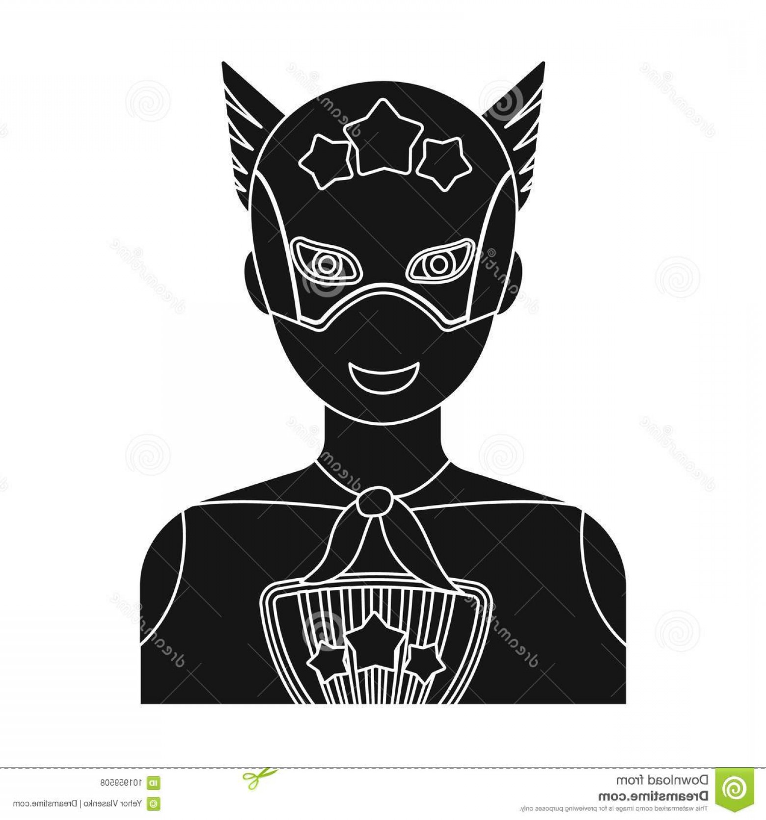 Superman Black And White Vector: Superman Single Icon Black Style Vector Symbol Stock Illustration Web Image