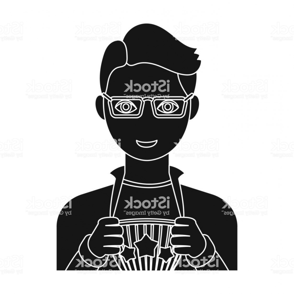 Superman Black And White Vector: Superman Single Icon In Black Style Superman Vector Symbol Stock Illustration Web Gm