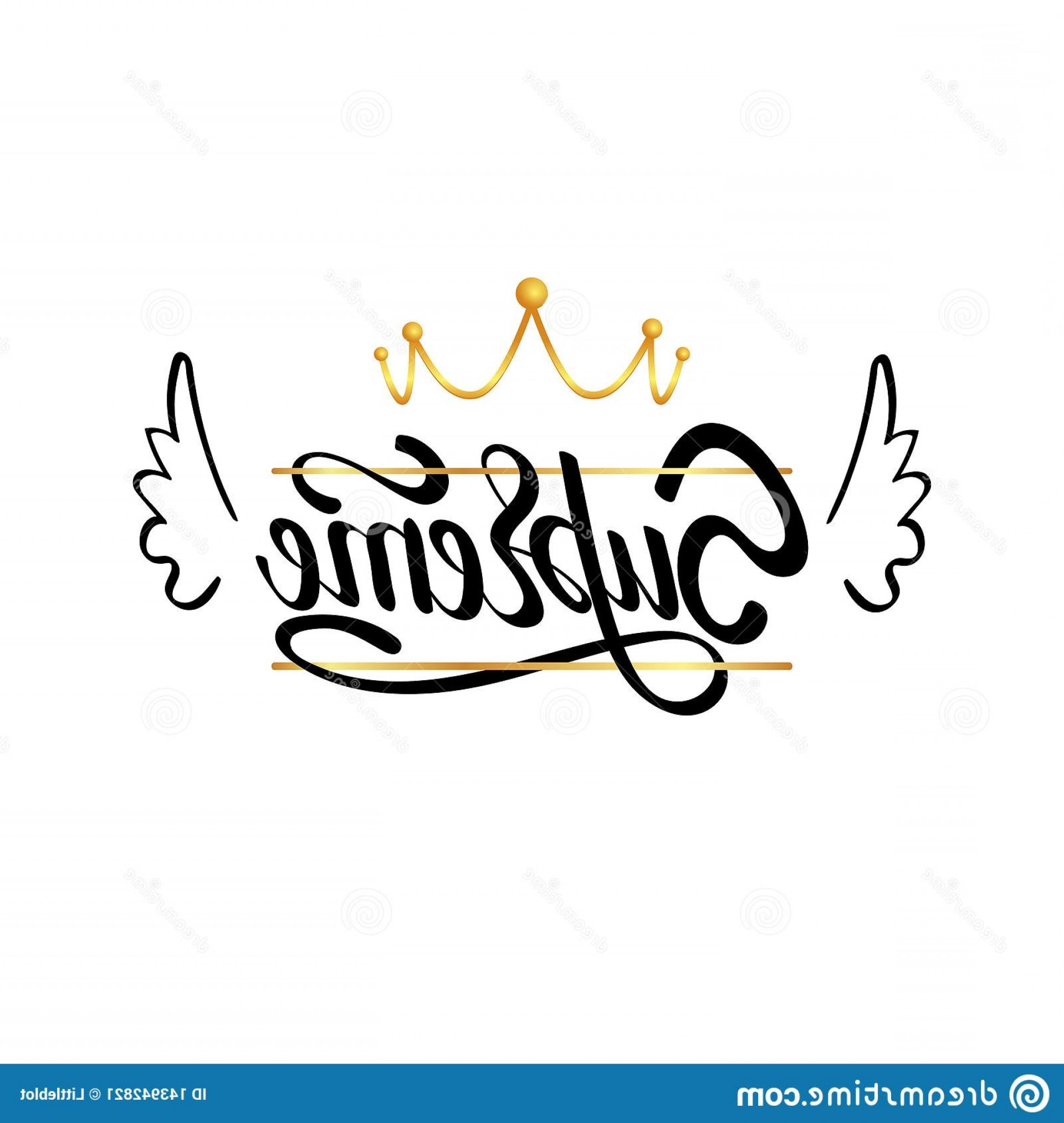 Supreme Logo Vector: Supreme Typography Slogan Print Gold Crown Illustration Lettering Supreme Typography Slogan Print Gold Crown Image