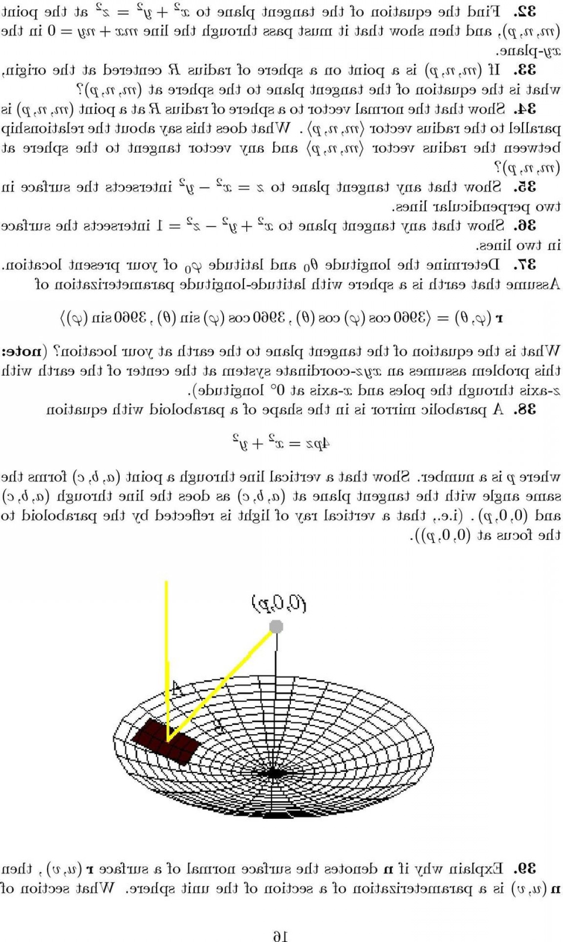 Point Of A Unit Normal Vector A Vector Intersects: Surface Normals And Tangent Planes