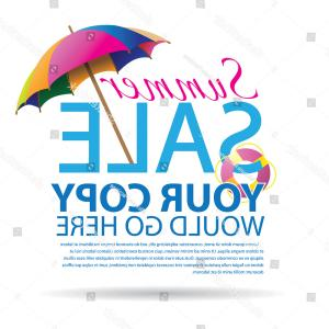 Vector Vs EPS: Summer Promotional Design Element Eps