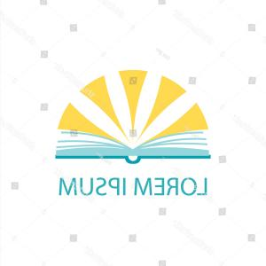 Vector Logos.com: Sun Rays Over Opened Book Vector