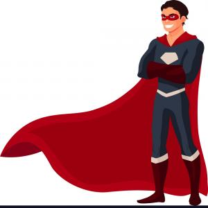 Super Hero Man Vector: Superhero Man In Cape And Usual Clothes Vector