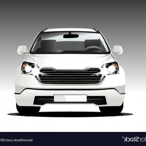 SUV Vector Logo: Suv White Color Front Car Vector