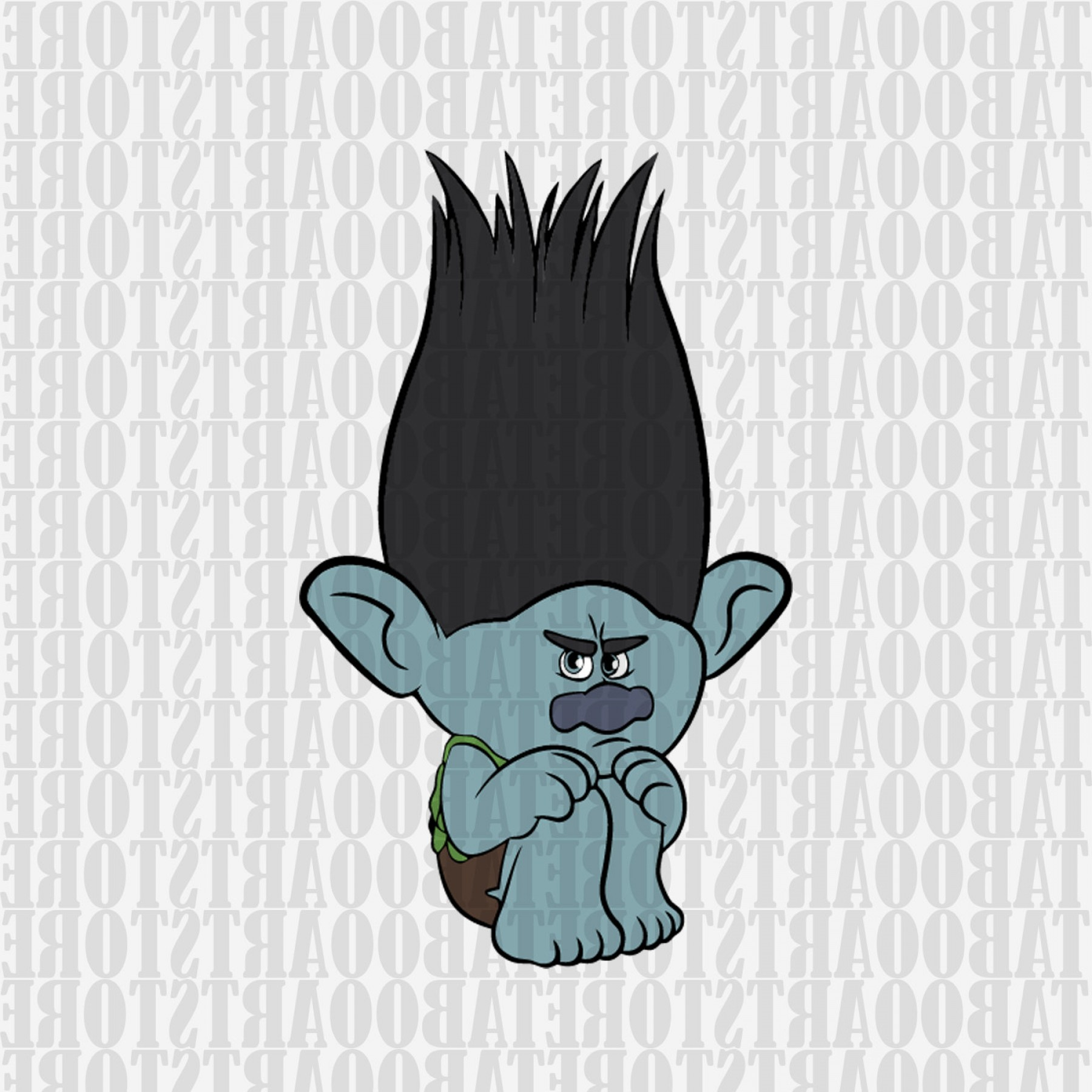 Trolls Poppy And Branch Vector Art: Svg Branch From Trolls Clipart Branch