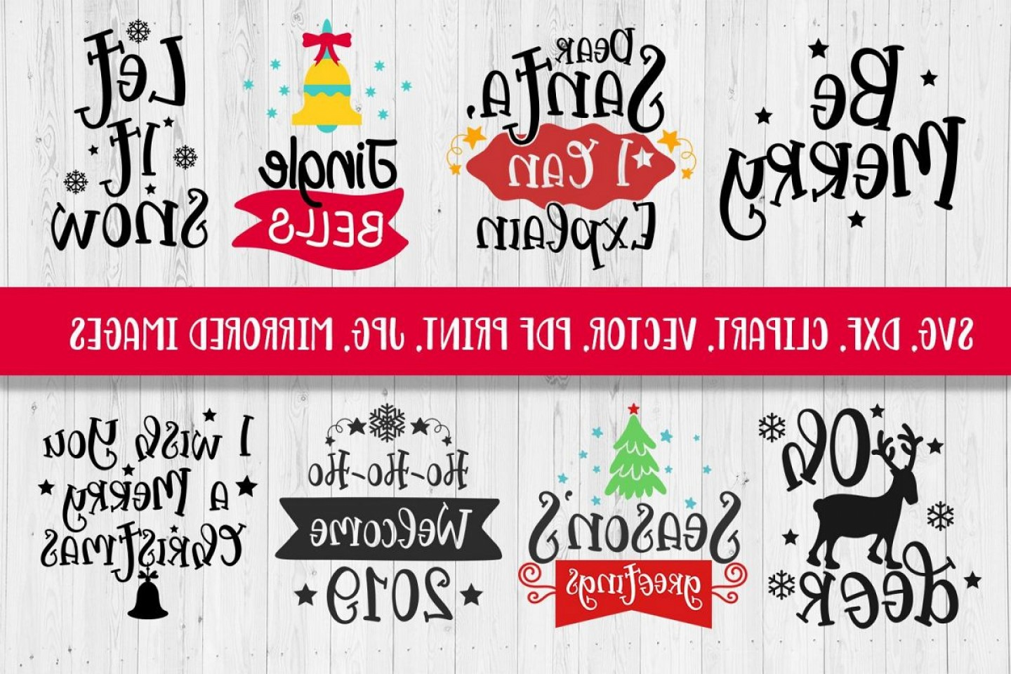 Christmas Vector Sayingd: Svg Christmas Sayings Bundle Svg Dxf Clipart Vector Print